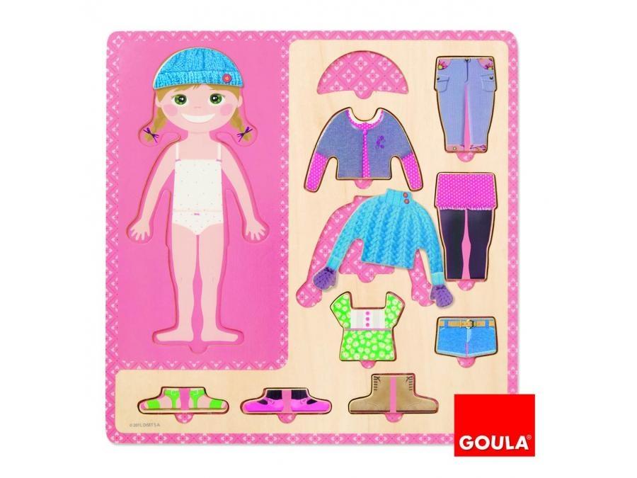 Goula - Puzzle fillette et ses toilettes