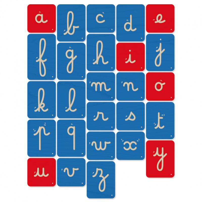 Mazafran - Planches de lettres à tracer Montessori