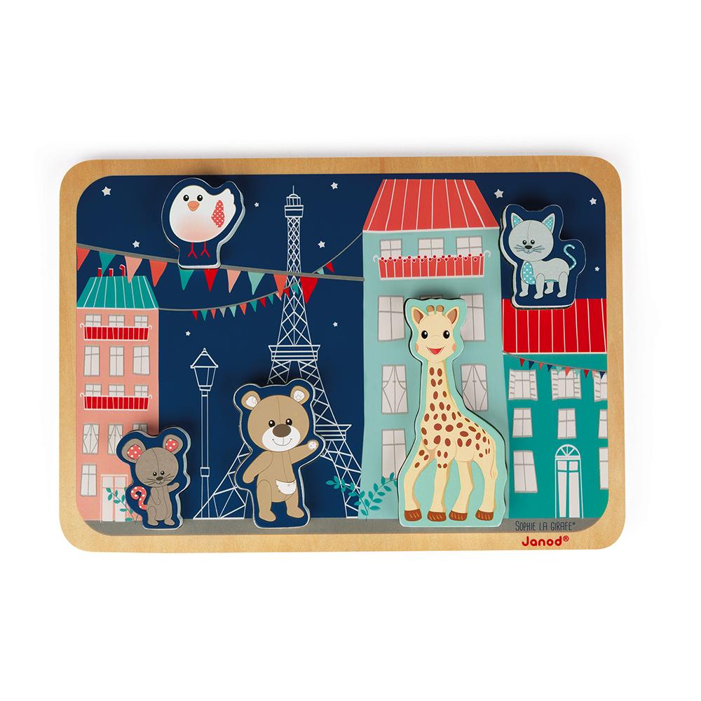 Janod - Chunky Puzzle Sophie la Girafe