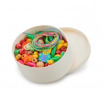 New Classic Toys - Boîte de perles en bois - 100 gr.