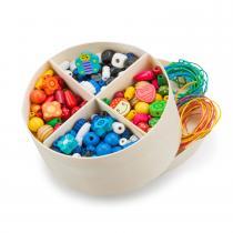 New Classic Toys - Boîte de perles en bois - 260 gr.