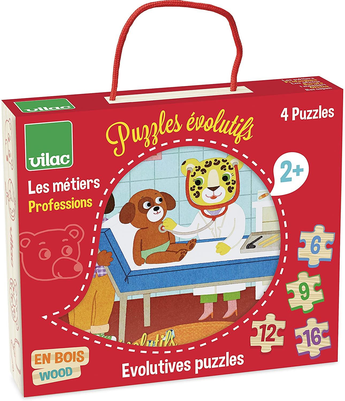 Vilac - 4 puzzles evolutifs metiers