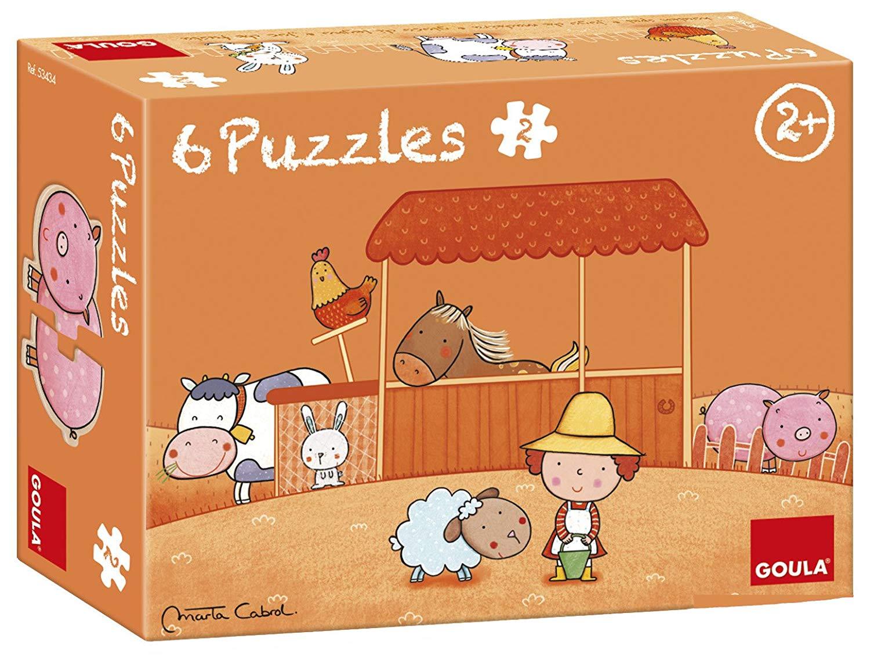 Goula - 6 Puzzles Animaux de la ferme