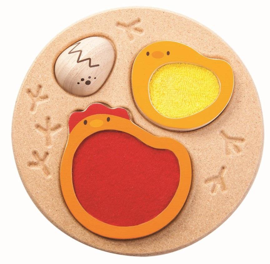 Plan Toys - Puzzle Poule-Oeuf - Le Toucher