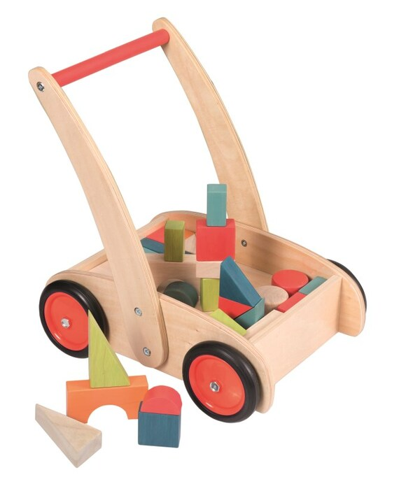 Egmont Toys - Chariot de marche avec blocs en bois