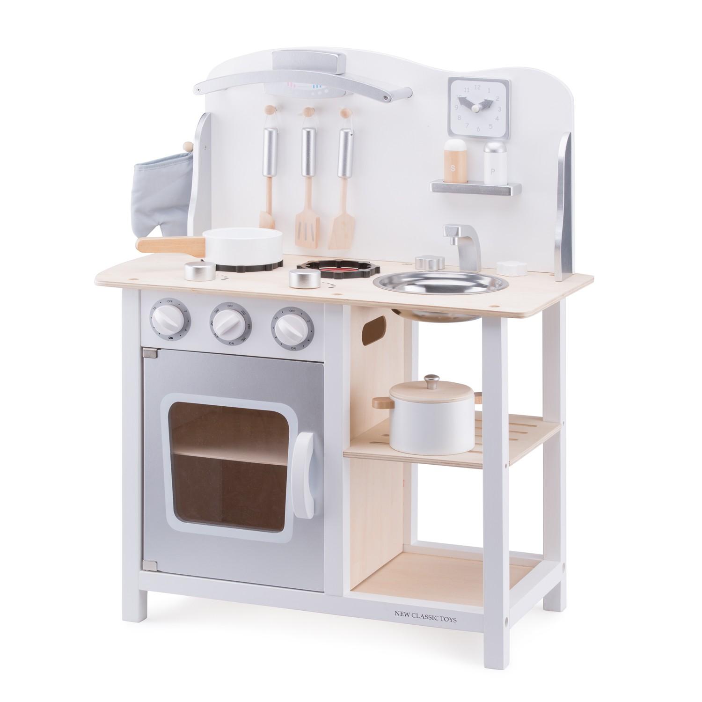 New Classic Toys - Cuisine Bon Appétit - blanche/argent