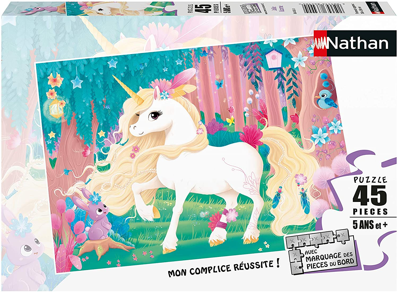 Nathan - Puzzle Jolie licorne 45 pcs