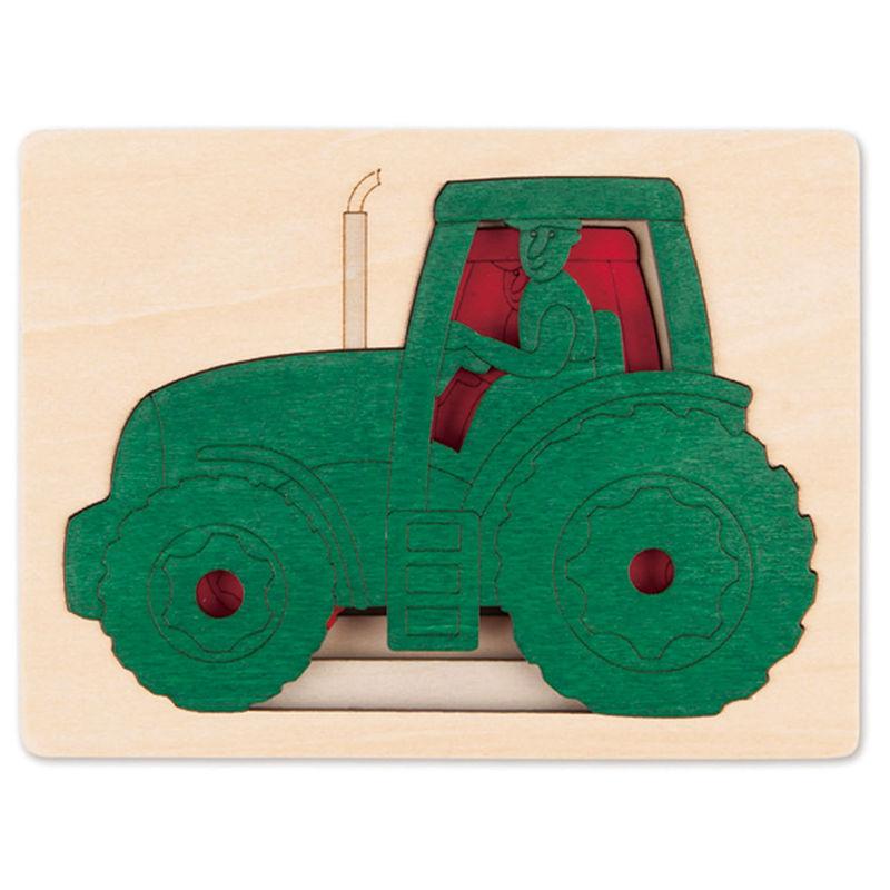 Hape - Puzzle 5 tracteurs en 1