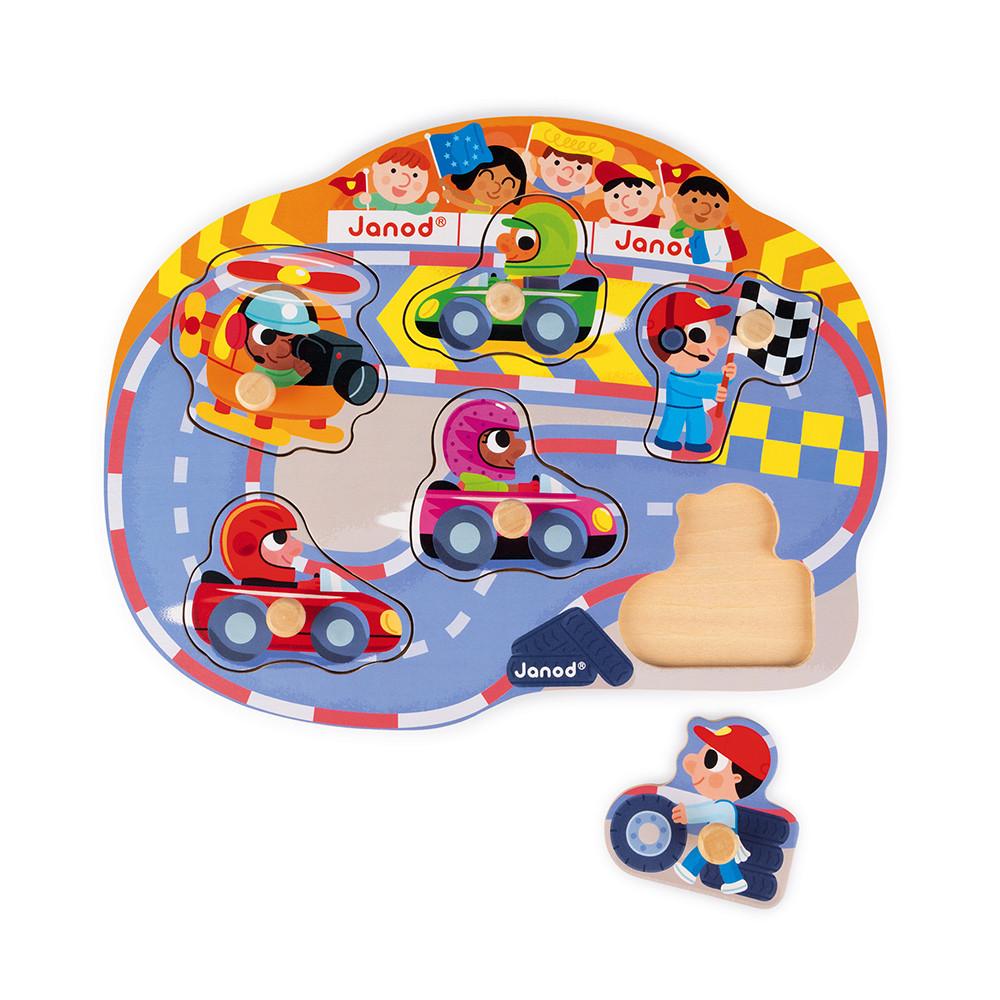 Janod - Puzzle Happy Racing