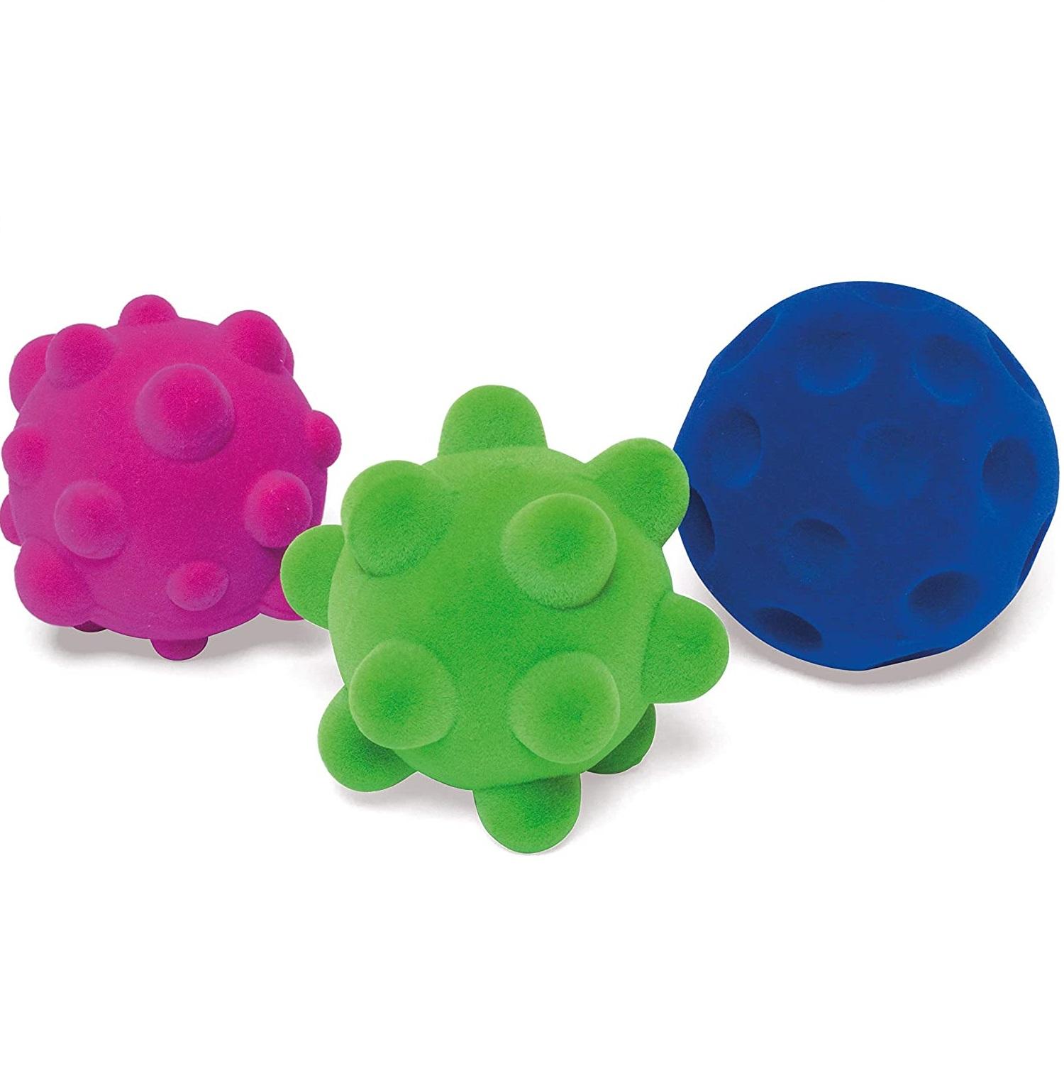 RUBBABU - Set de 3 mini balles sensorielles