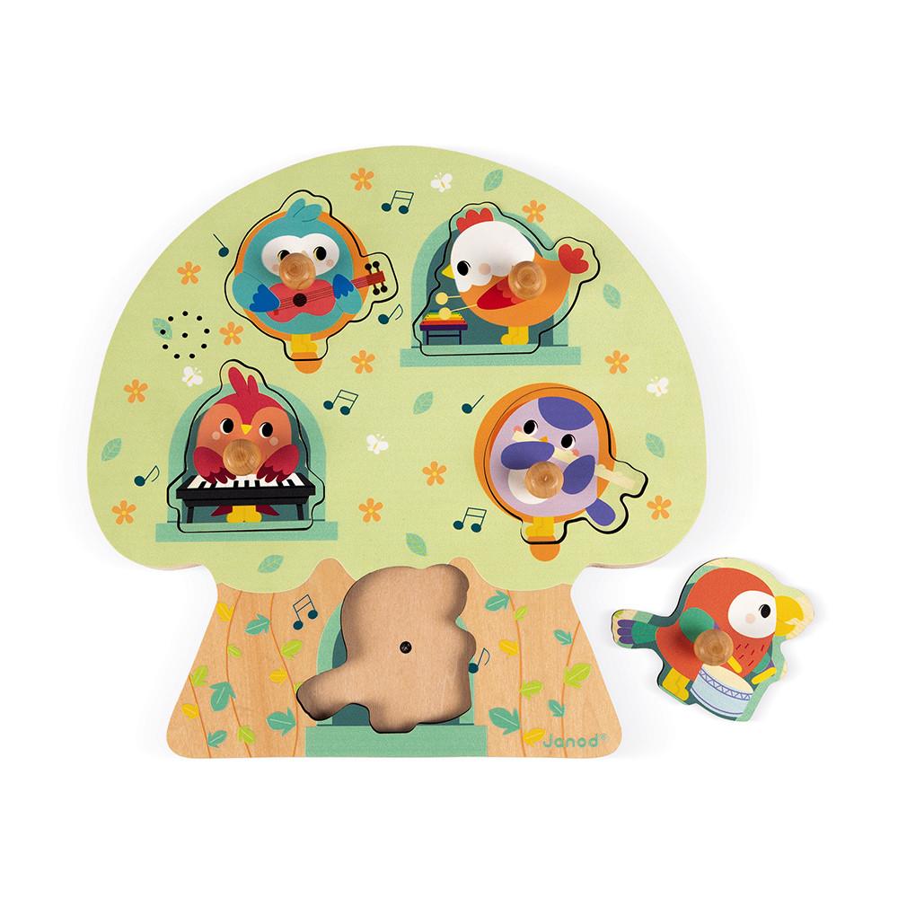 Janod - Puzzle musical les oiseaux en fete