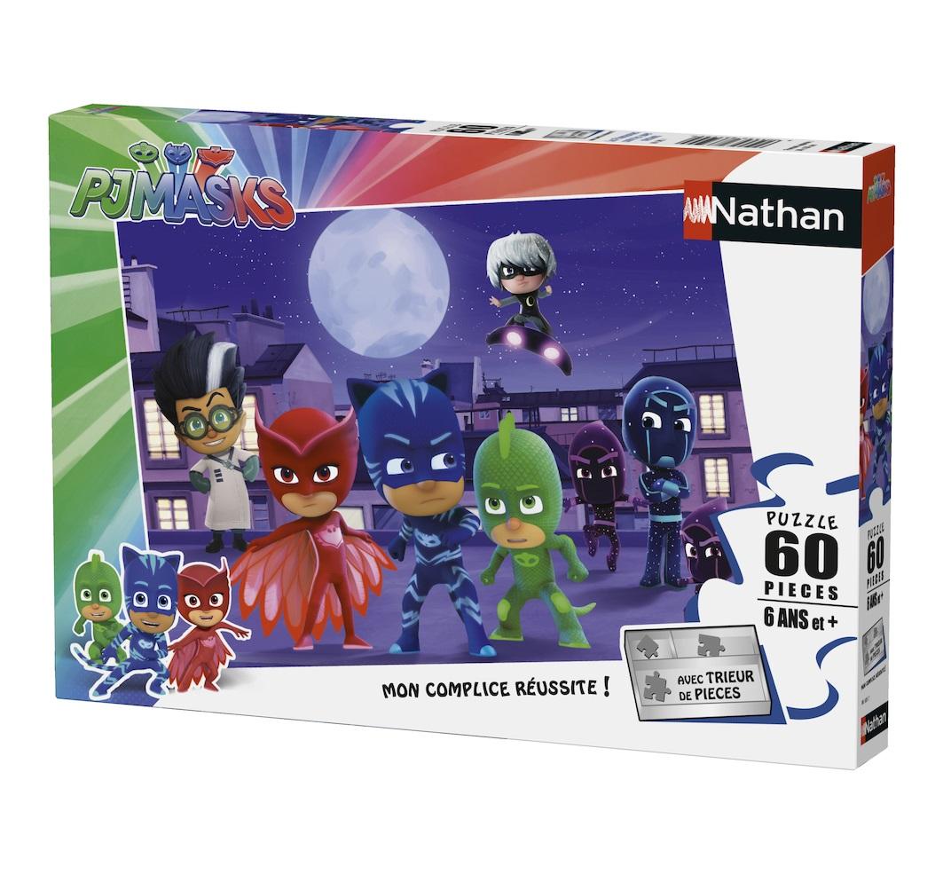 Nathan - Puzzle Pyjamasques vs super méchants 60 pcs