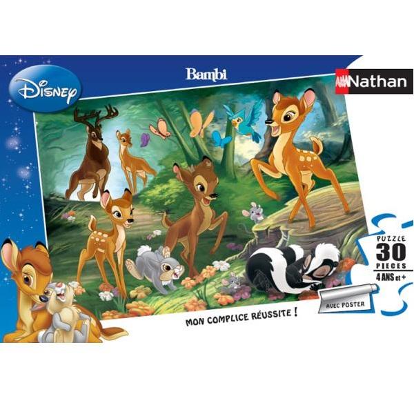 Nathan - Puzzle Bambi Promenade en famille 30 pcs