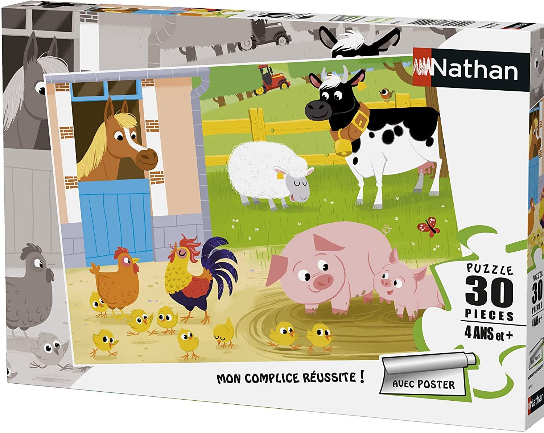 Nathan - Puzzle Mes amis de la ferme 30 pcs