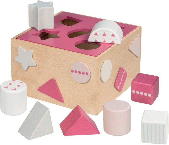 Goki - Boîte à formes Framboise