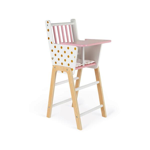 Janod - Chaise haute poupée Candy Chic