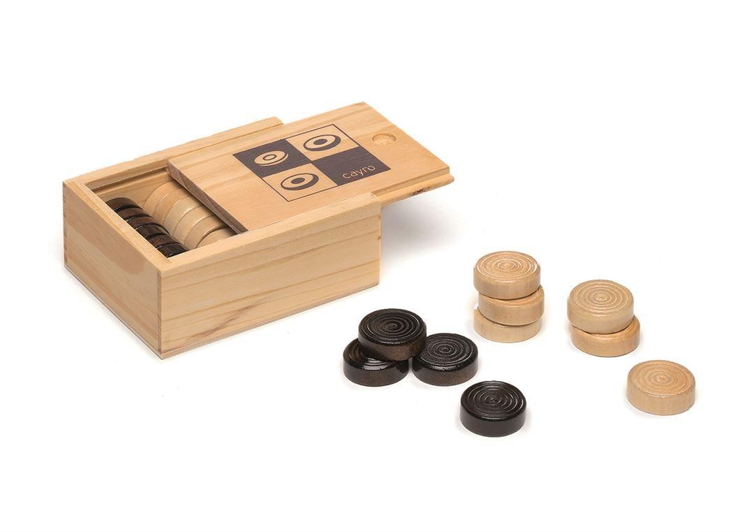 Cayro - Pions en bois pour jeu de dames