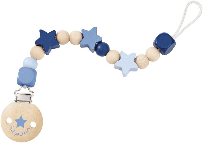 Selecta - Attache-tétine étoiles bleu