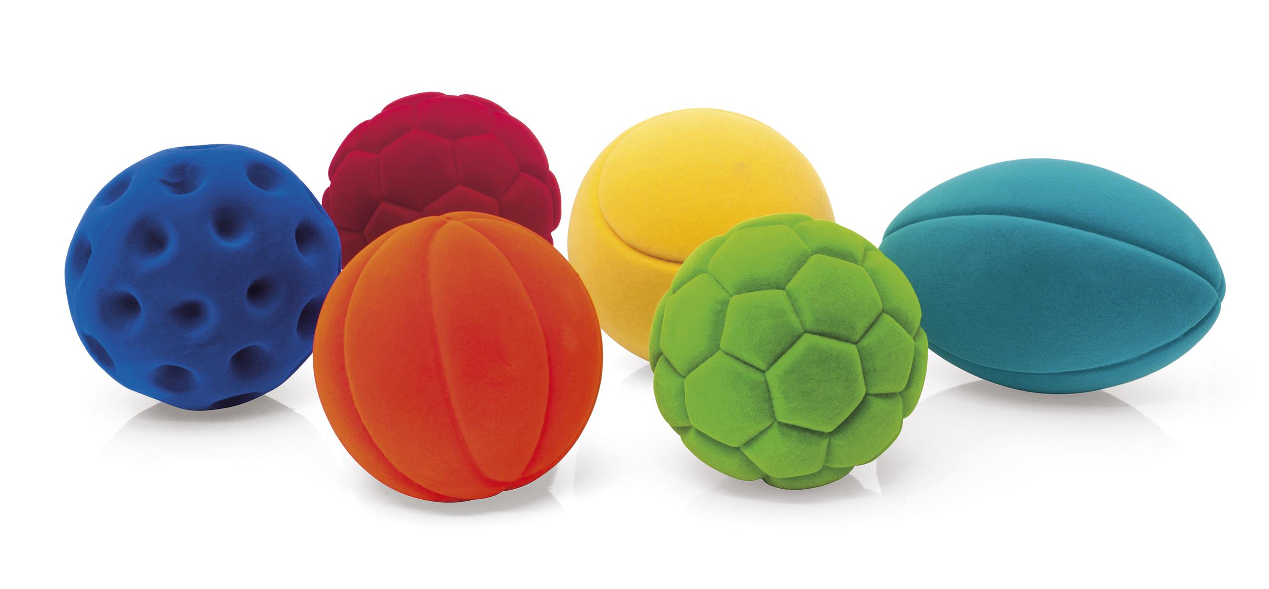 RUBBABU - Lot de 6 balles de sports