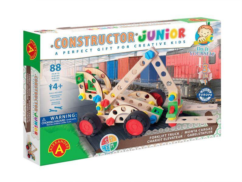 Alexander Toys - Constructor Junior 3x1 - Chariot élévateur