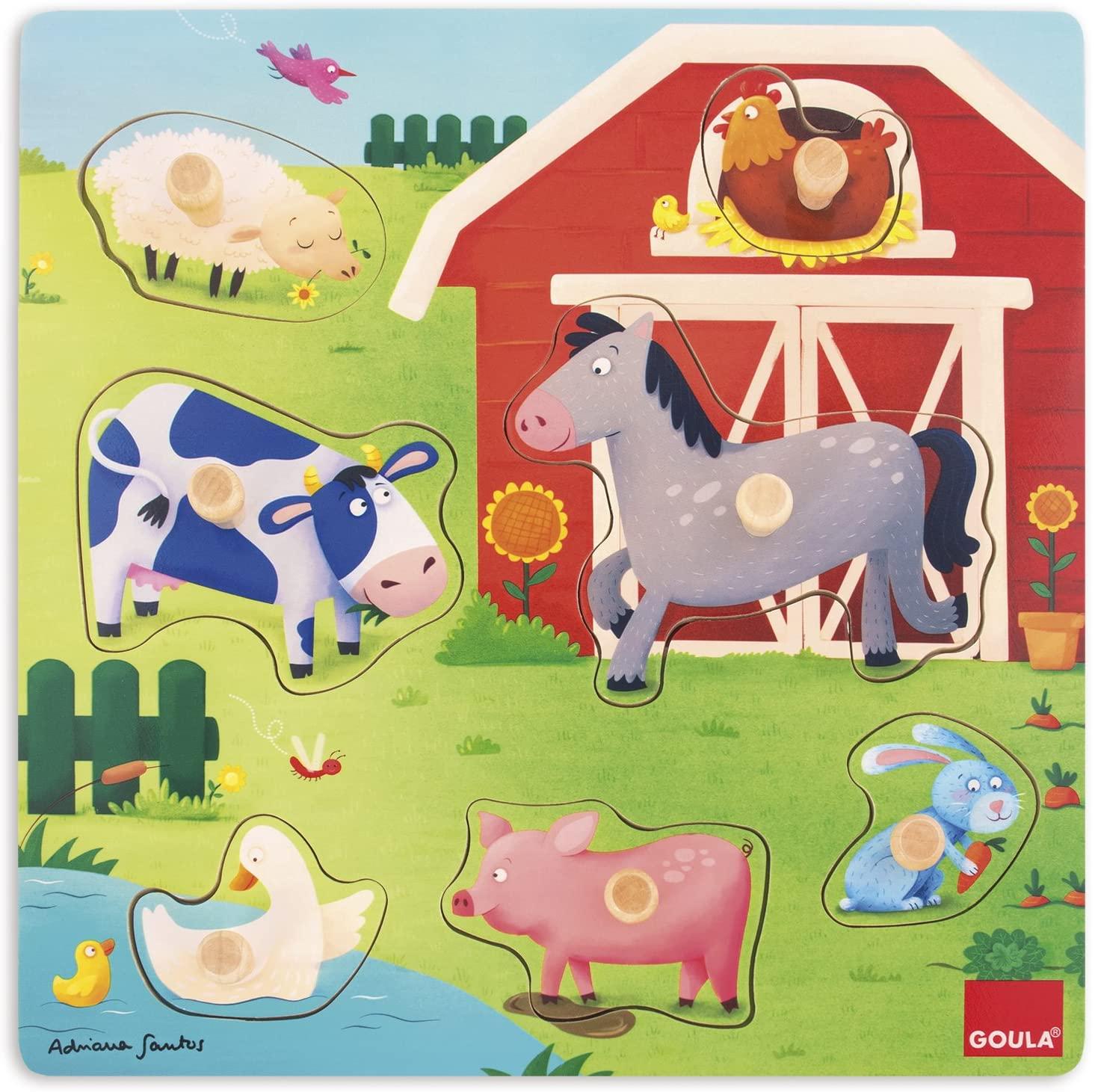 Goula - Puzzle mamans et bébés Ferme