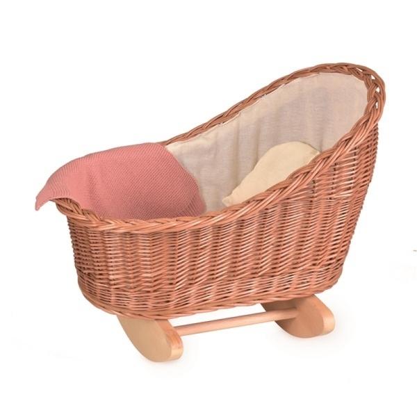 Egmont Toys - Berceau en osier avec couverture tricot