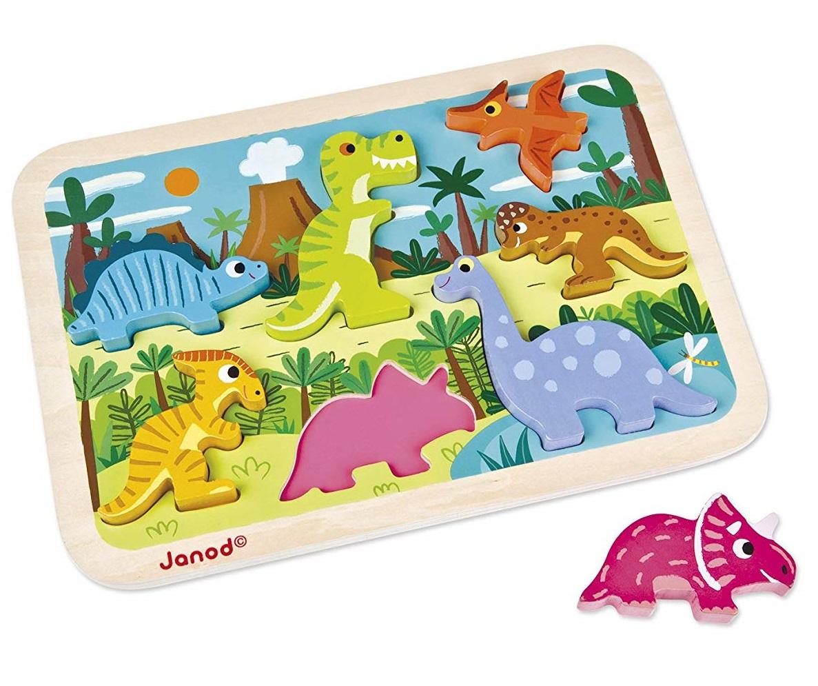 Janod - Chunky puzzle Dinosaures