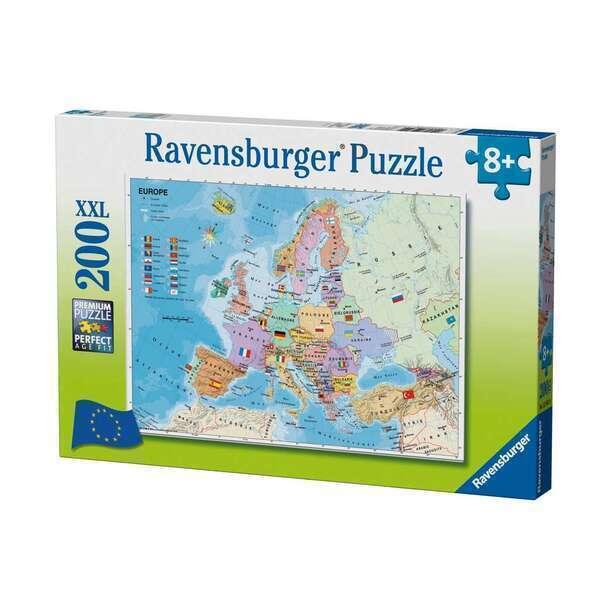 Ravensburger - Puzzle Carte d'Europe 200 pcs