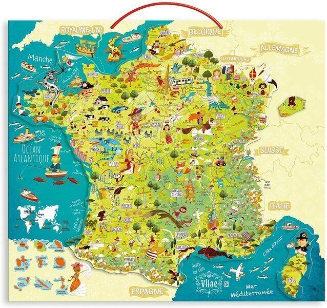 Vilac - Carte des merveilles de France magnétique