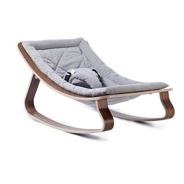 Charlie Crane - Transat bébé LEVO en noyer - Grey