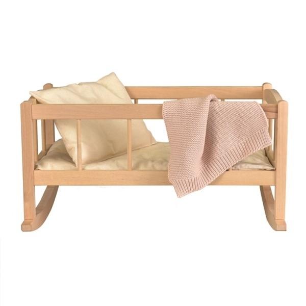 Egmont Toys - Berceau en bois avec couverture tricot