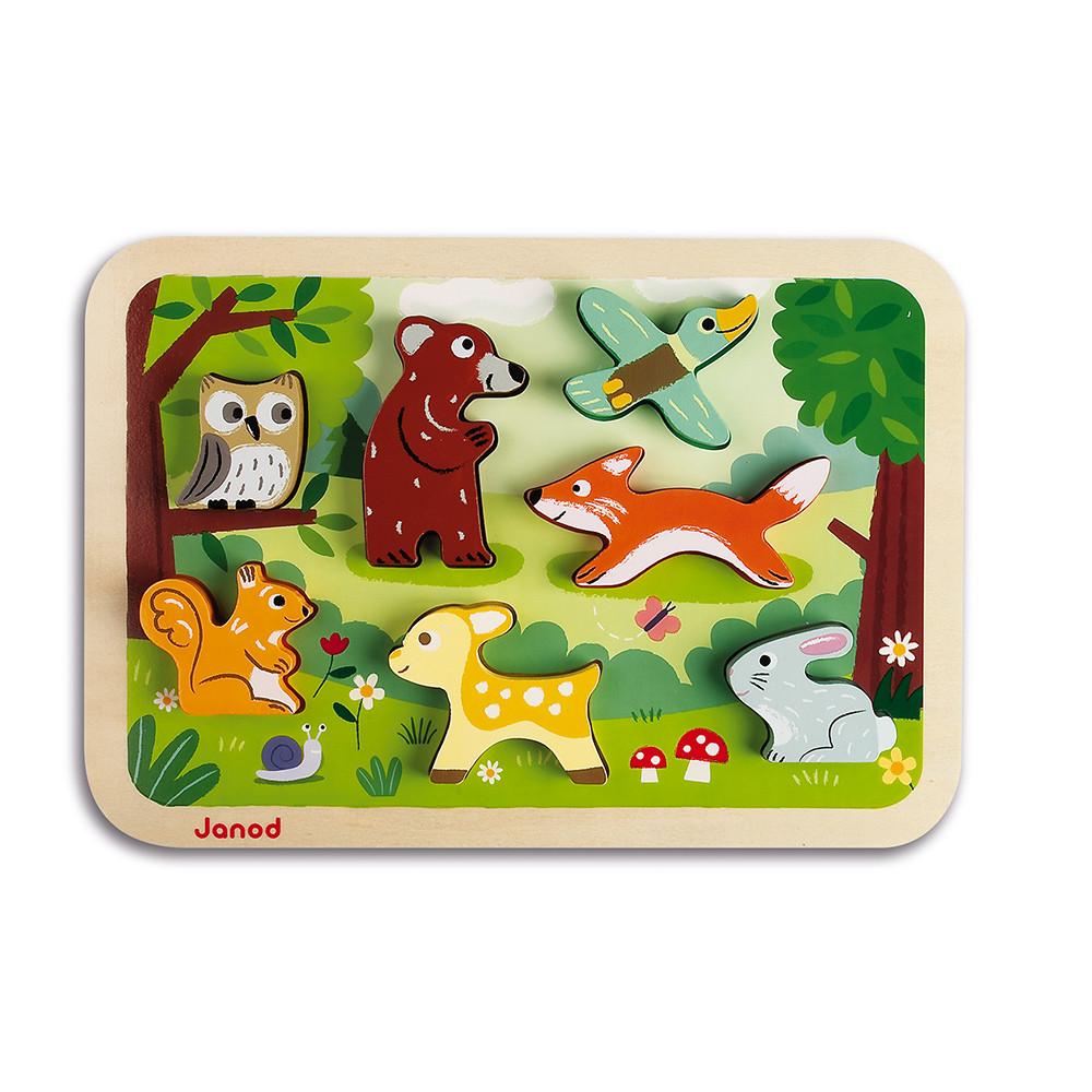 Janod - Puzzle 3D animaux de la forêt