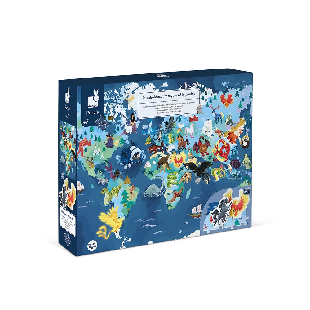 Janod - Puzzle éducatif Mythes et Légendes 350 pcs
