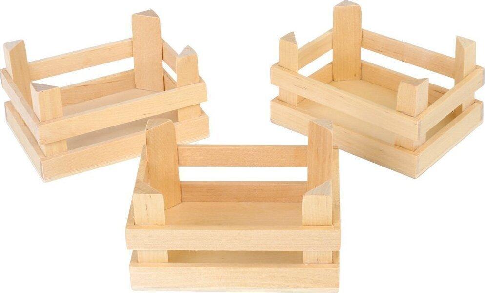 Small Foot - Lot de 3 petites caisses en bois
