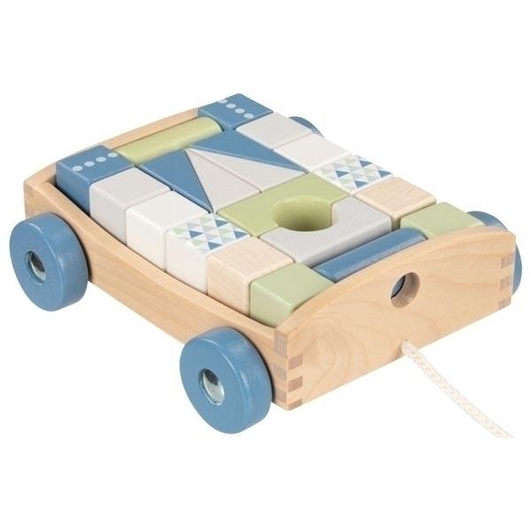 Goki - Chariot et blocs de construction Bleuet