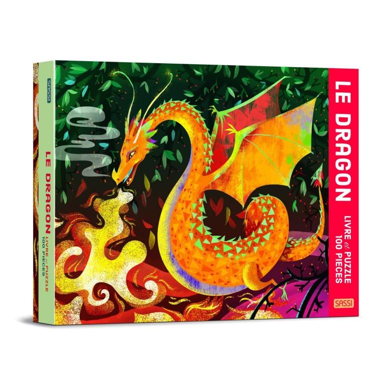SASSI Junior - Le Dragon - Livre et puzzle 100 pcs