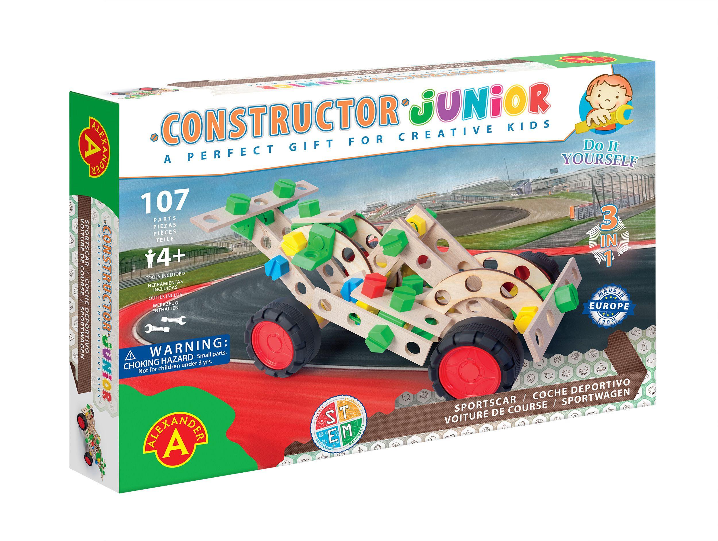 Alexander Toys - Constructor Junior 3x1 - Voiture de course