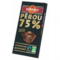 Alter éco - Chocolat Noir Bio 75 % Cacao 100g