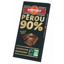 Alter éco - Chocolat Noir Bio 90 % Cacao 100g