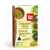Lima - Soupe légumes verts et lentilles 1L
