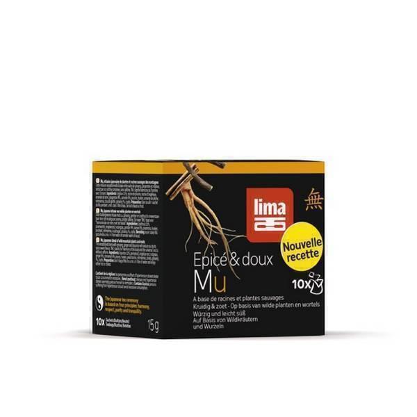 """Lima - Mu plante et ginseng """"épicé et doux"""" 10x1.5g"""
