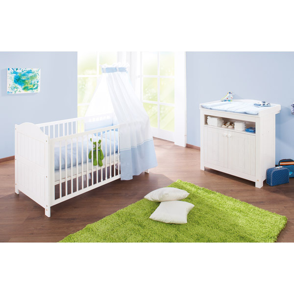 Chambre nina lit table langer pinolino - Table a langer lit bebe ...