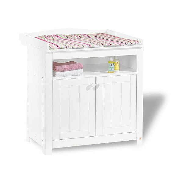 Commode blanche carrefour for Armoire table a langer