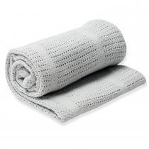 Lulujo - Couverture tricot de coton - Gris