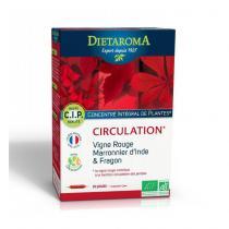 Dietaroma - CIP Circulation bio - Vigne rouge, marronnier d'Inde 20 ampoules