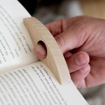 Ecogift - Porte-page en bois de hêtre