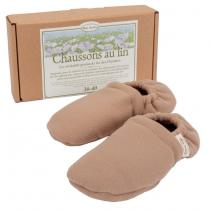 Mille oreillers - Chaussons au lin - Taille 36/40