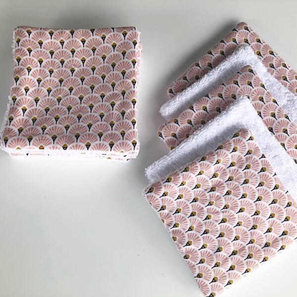 Sur Mon Nuage de Laine - 10 lingettes démaquillantes écailles roses