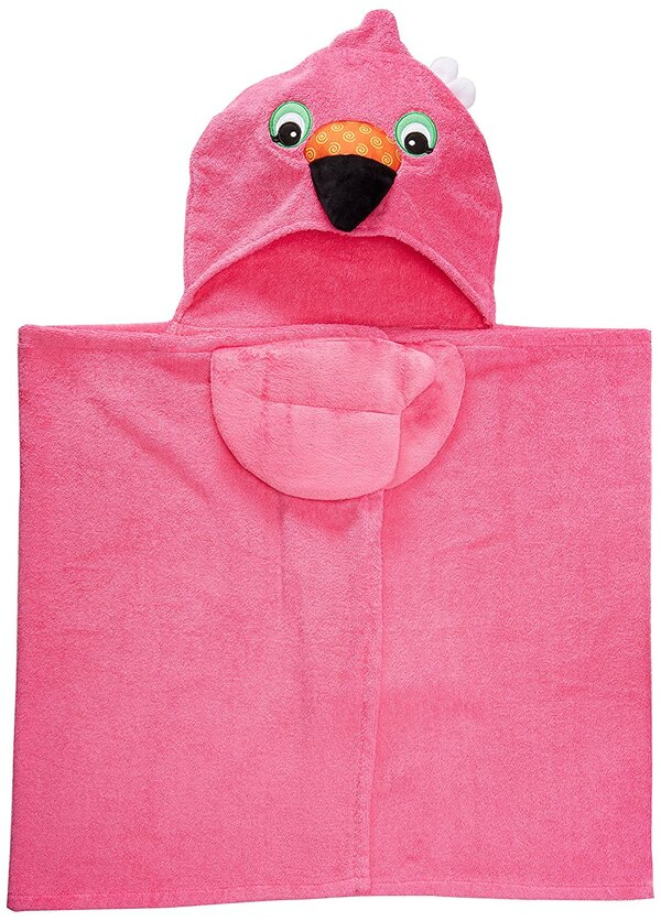 Zoocchini - Serviette de bain enfant - Franny le flamant rose