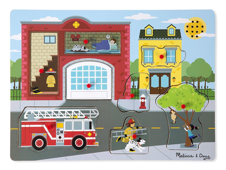 Melissa & Doug - Puzzle sonore - Autour de la caserne des pompiers